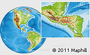 Physical Location Map of San Pedro Zacapa