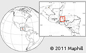 Blank Location Map of San Vicente Centenario