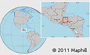 Gray Location Map of San Vicente Centenario