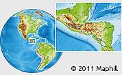 Physical Location Map of San Vicente Centenario