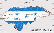 Flag Simple Map of Honduras, flag centered