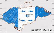 Flag Simple Map of Honduras, flag rotated