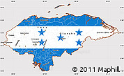 Flag Simple Map of Honduras