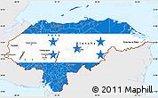 Flag Simple Map of Honduras, single color outside