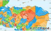 Political Simple Map of Honduras