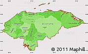 Political Shades Simple Map of Honduras, cropped outside