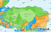 Political Shades Simple Map of Honduras, political outside