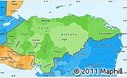 Political Shades Simple Map of Honduras