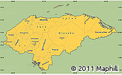 Savanna Style Simple Map of Honduras, cropped outside