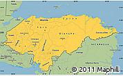 Savanna Style Simple Map of Honduras