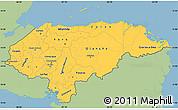 Savanna Style Simple Map of Honduras, single color outside