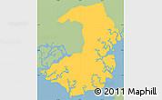 Savanna Style Simple Map of Alianza, single color outside
