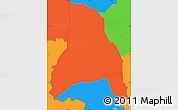 Political Simple Map of Goascoran