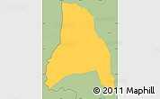 Savanna Style Simple Map of Goascoran