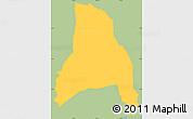 Savanna Style Simple Map of Goascoran, single color outside