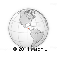 Outline Map of Valle