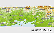 Physical Panoramic Map of Valle