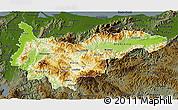 Physical 3D Map of Yoro, darken