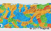 Political 3D Map of Yoro