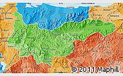 Political Shades Map of Yoro