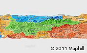 Political Shades Panoramic Map of Yoro