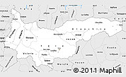 Silver Style Simple Map of Yoro