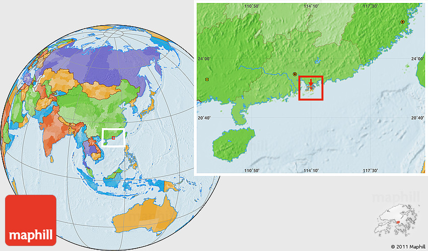 Political Location Map Of Sham Shui Po