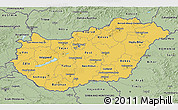 Savanna Style 3D Map of Hungary