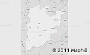 Silver Style Map of Bács-Kiskun