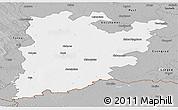 Gray Panoramic Map of Bács-Kiskun