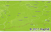 Physical Panoramic Map of Bács-Kiskun