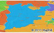 Political Panoramic Map of Bács-Kiskun