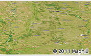 Satellite Panoramic Map of Bács-Kiskun