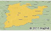 Savanna Style Panoramic Map of Bács-Kiskun