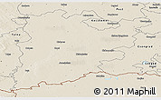 Shaded Relief Panoramic Map of Bács-Kiskun