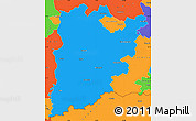 Political Simple Map of Bács-Kiskun