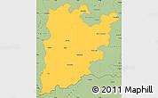 Savanna Style Simple Map of Bács-Kiskun