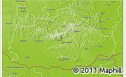 Physical 3D Map of Baranya