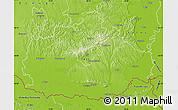 Physical Map of Baranya