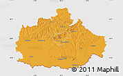 Political Map of Baranya, cropped outside