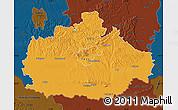 Political Map of Baranya, darken