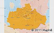 Political Map of Baranya, lighten