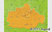 Political Map of Baranya, physical outside