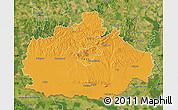 Political Map of Baranya, satellite outside