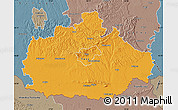 Political Map of Baranya, semi-desaturated
