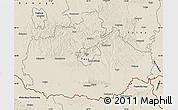 Shaded Relief Map of Baranya