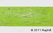 Physical Panoramic Map of Baranya