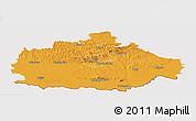 Political Panoramic Map of Baranya, cropped outside