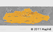 Political Panoramic Map of Baranya, desaturated