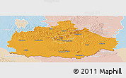 Political Panoramic Map of Baranya, lighten